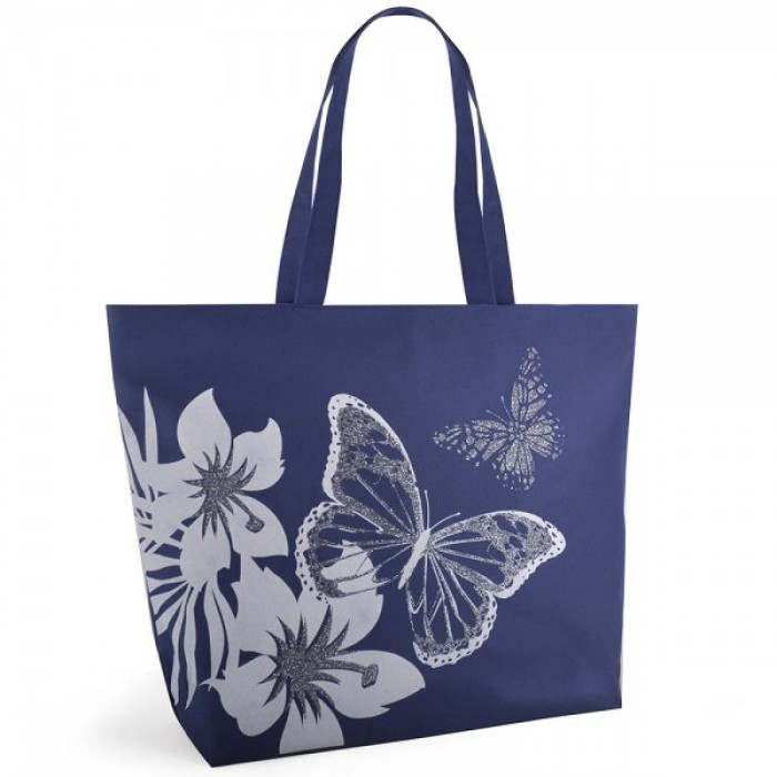 BB1029 BUTTERFLY 600D PRINT BAG NAVY