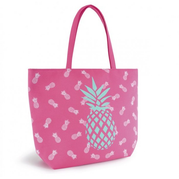 BB1017 CANVAS BAG WITH PINEAPPLE PINK