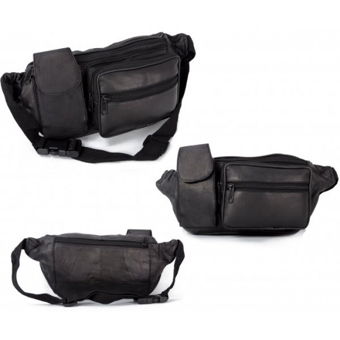 1001-MB MULTI POCKET BUM BAG W/PHONE HOLDER