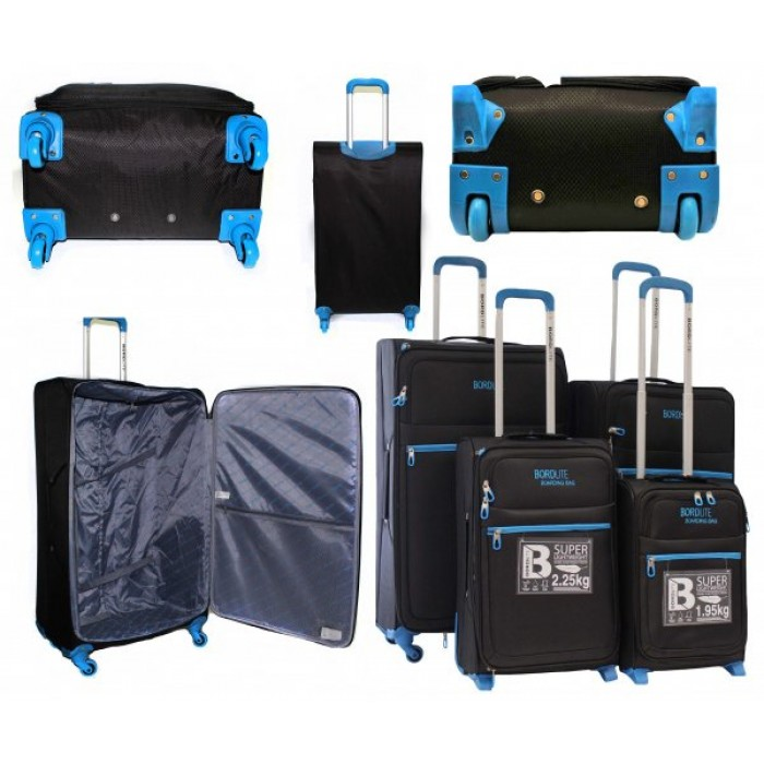 JB2015 BLACK BLUE 4 SUITCASES