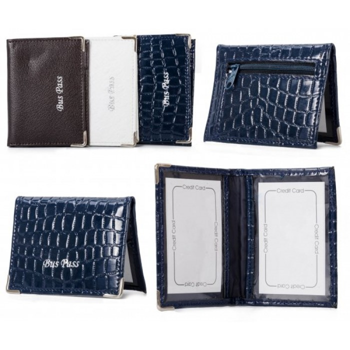 BCZP BLUE PU BUSS PASS WALLET
