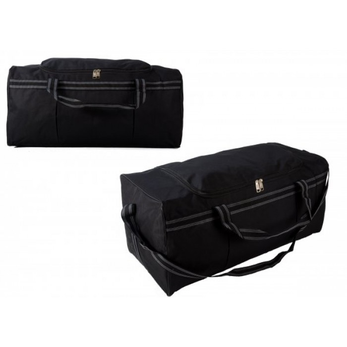TB-105 BLACK/ GREY HOLDALL W/ SHOULDER STRAP