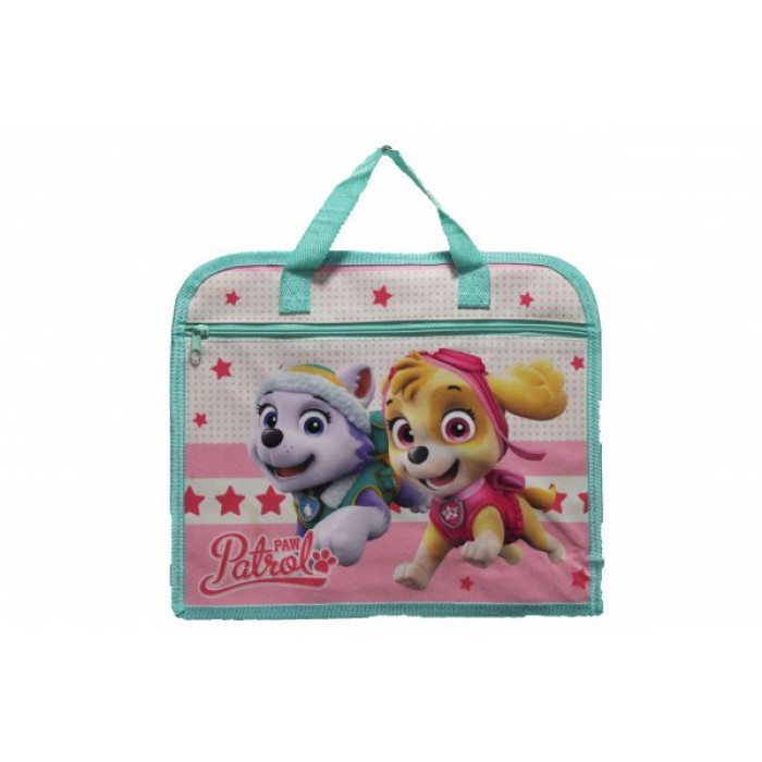1717-7189 CHILDRENS BOOK BAG PAW-PATROL PINK