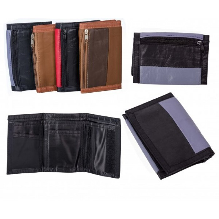 1893 GREY MULTI S.NAPPA TRI FOLD WALLET ZIP