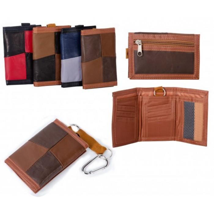 1895 BROWN MULTI S.NAPPA TRIFOLD WALLET WT ZIP AND BELT HOOK