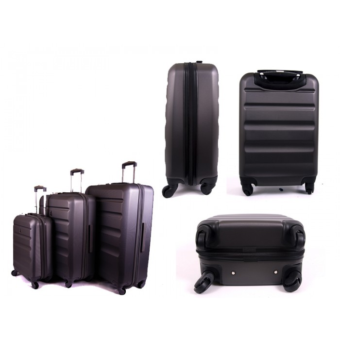 """ABS325 CHARCOAL 21/25/29"""" TROLLEYCASES"""