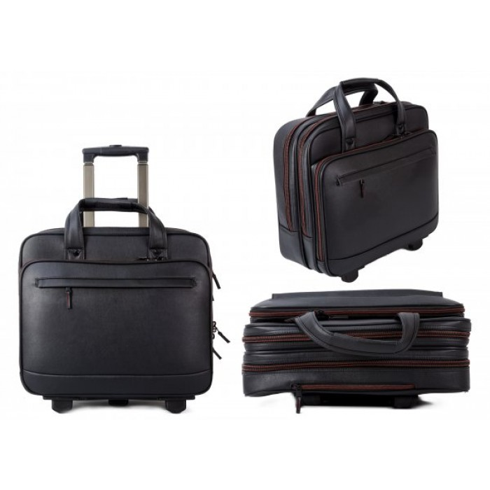 LT064P LAPTOP CASE WITH TROLLEY WHEELS & HANDLE