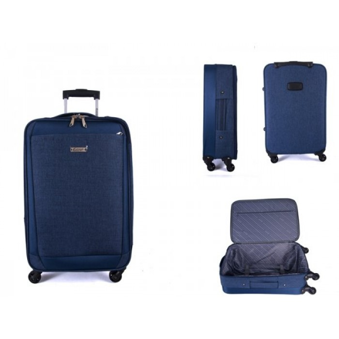 "EV-419 NAVY 28"" 4 WHEEL TROLLEY CASE"