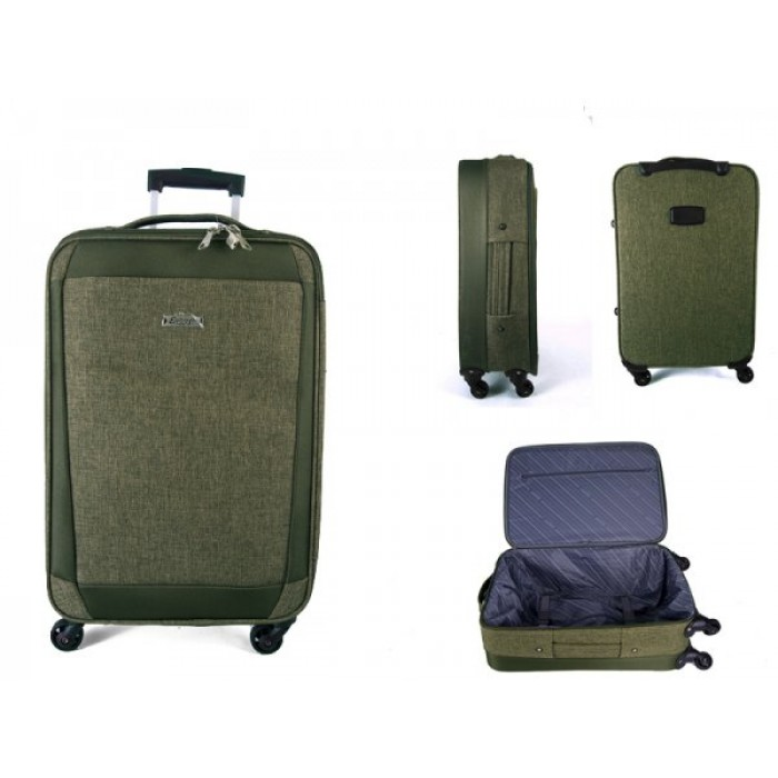 "EV-419 GREEN 24"" 4 WHEEL TROLLEY CASE"