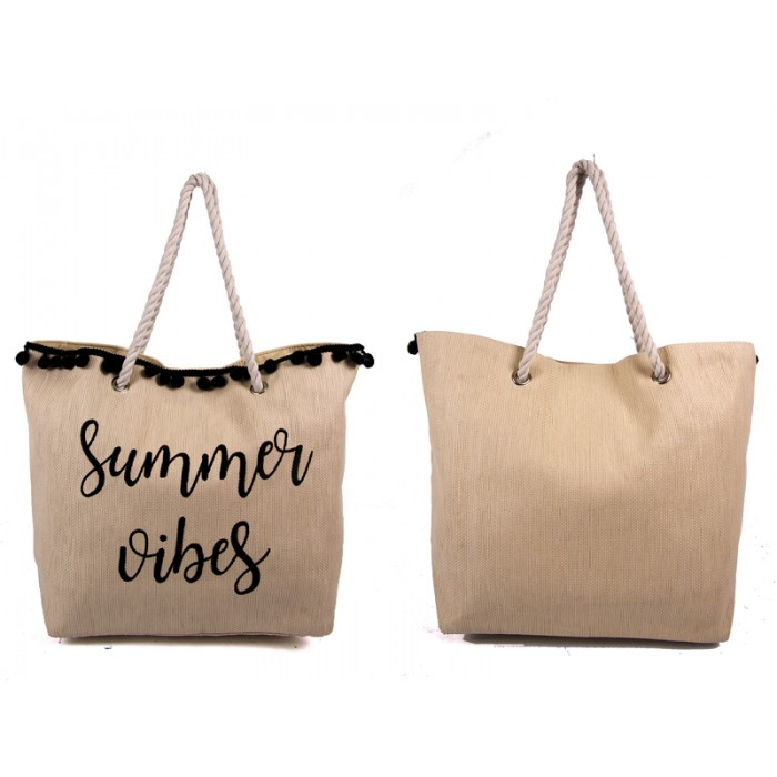 BB1034PW SUMMER BAG WTH TASSEL ROPE HAND