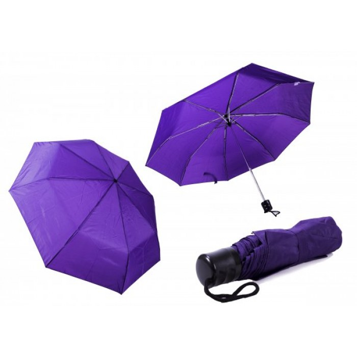 2800 PURPLE LADIES PLAIN FOLDING COMPACT UMBRELLA