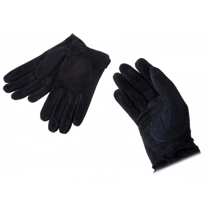LG-100 MEDIUM BLACK SUEDE GLOVES W/ SLIT