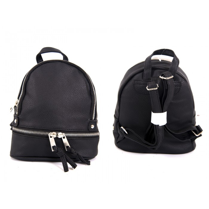jbfb200 BLACK PU SMALL BACKPACK