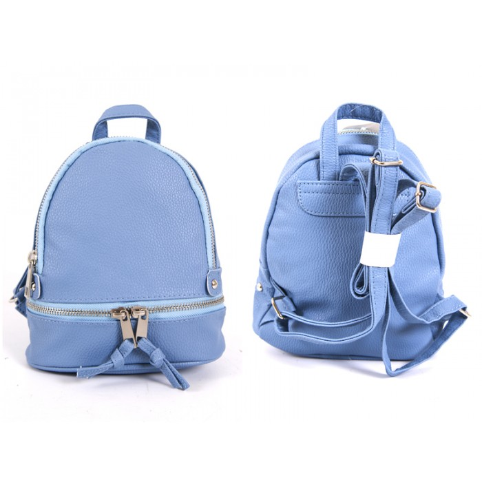 jbfb200 BLUE PU SMALL BACKPACK