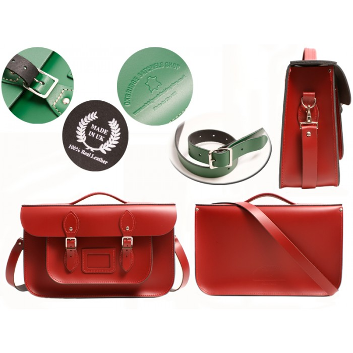 15 RED OXBRIDGE BRIEFCASE SATCHEL