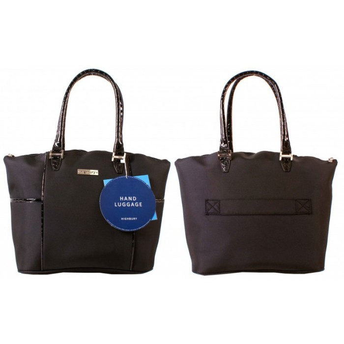HBY-0079 Cabin Size Tote Bag Black