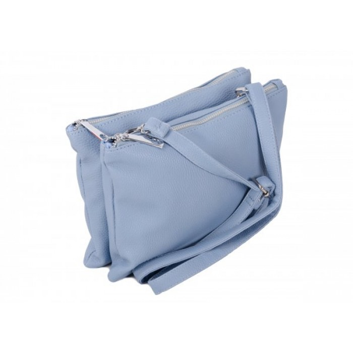 JBFB245 BLUE PU DOUBLE COMPARTMENT CROSSBAG