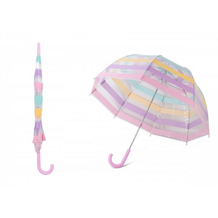 JBUB10-PINK STRIPE UMBRELLA