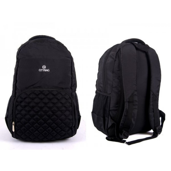 BP-840 BLACK LAPTOP BACKPACK 3 ZIPS & 2 SIDE PKTS