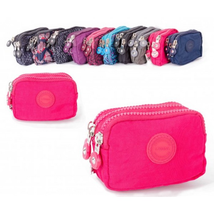 2506 PINK SMALL TRIPLE ZIP ROUND PURSE WITH DETACHABLE STRAP £1.75