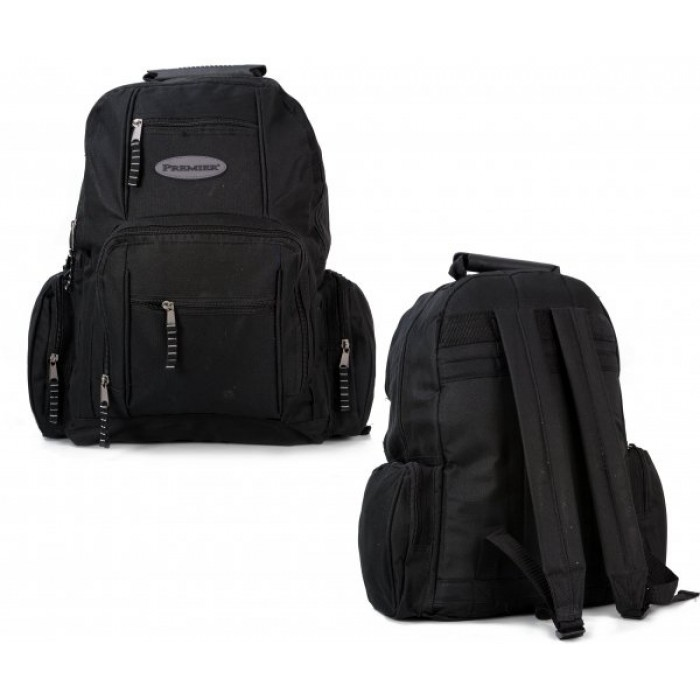 BP-71 BLACK RUCKSACK WITH SIDE POCKETS