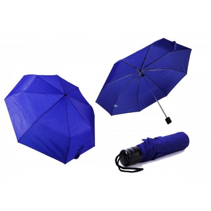 2800 BLUE LADIES PLAIN FOLDING COMPACT UMBRELLA