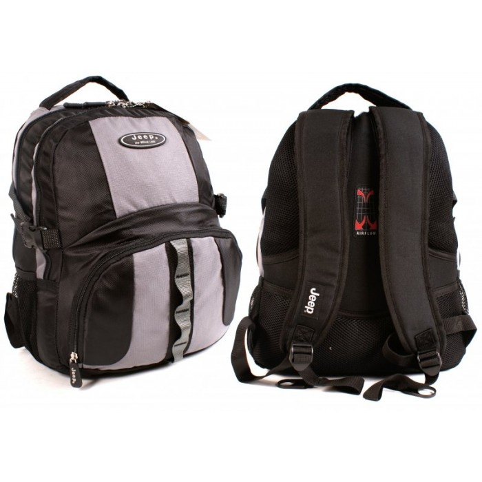 PH-802 BLACK AND GREY JEEP BACKPACK - 040