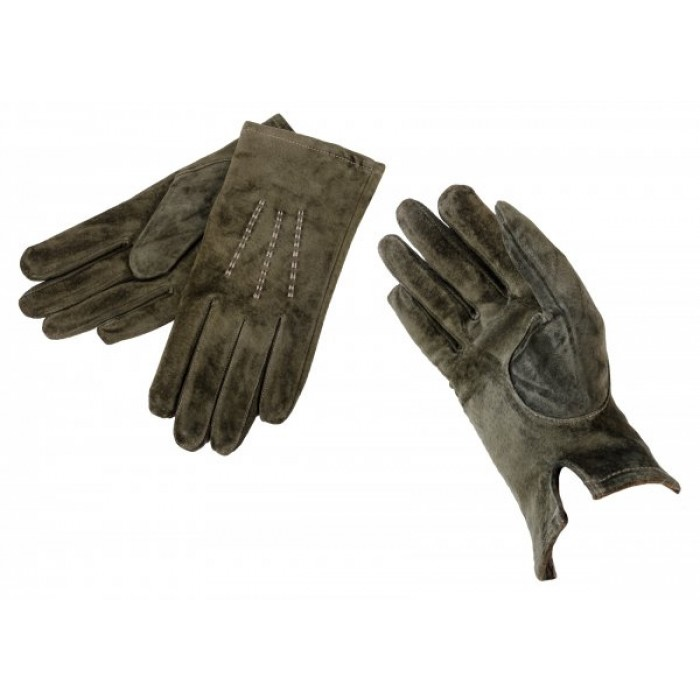 LG-102 SMALL DARK GREEN SUEDE GLOVES