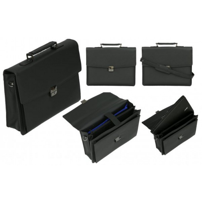 BR9391 DOUBLE GUSSETED BUSINESS BRIEFCASE