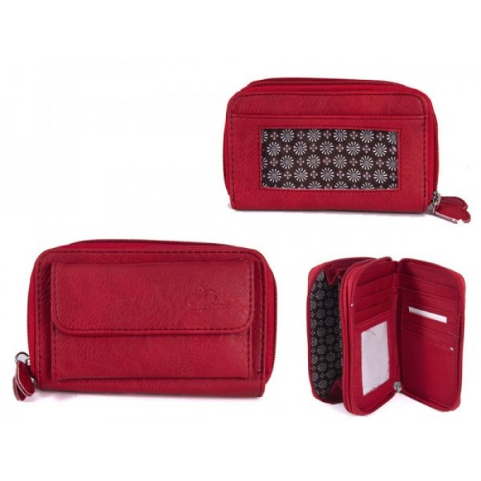 JBPS122 RED PU PURSE WITH POP FR