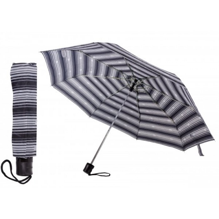 2801 BLACK AND WHITE STRIPES COMPACT UMBRELLA