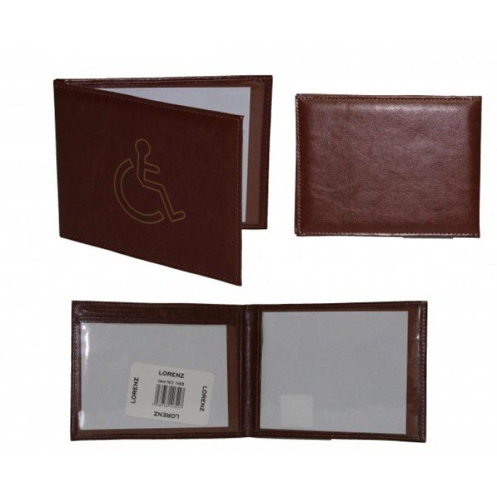 1498 BROWN DISABLED BADGE WALLET