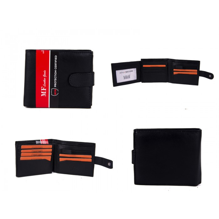 DM 6 100% LEATHER RFID WALLET