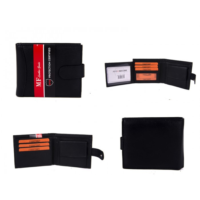 DM 8 100% LEATHER RFID WALLET