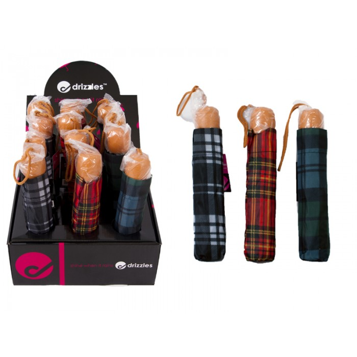 DRIZZELS SUPER MINI UMBRELLA TARTAN
