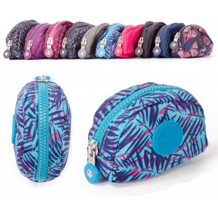 2505 PALMS SMALL ZIP ROUND COIN PURSE W/ INNER CLIP