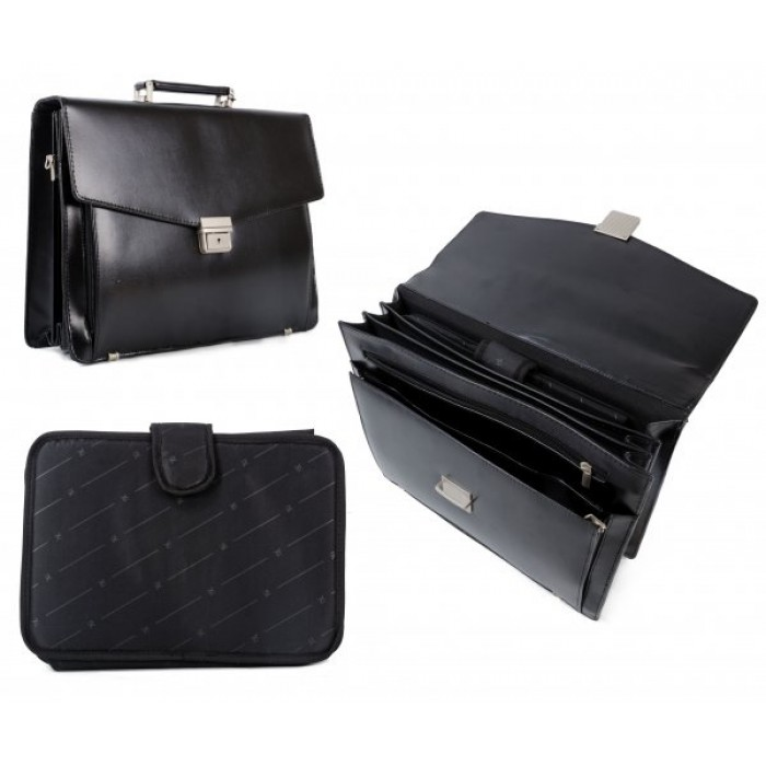 8895 BLACK BRIEFCASE W/ REMOVABLE SLEEVE