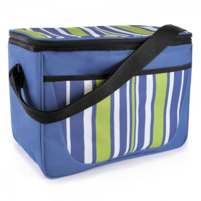 BB0914 STRIPE PRINT FAMILY COOL BAG NAVY