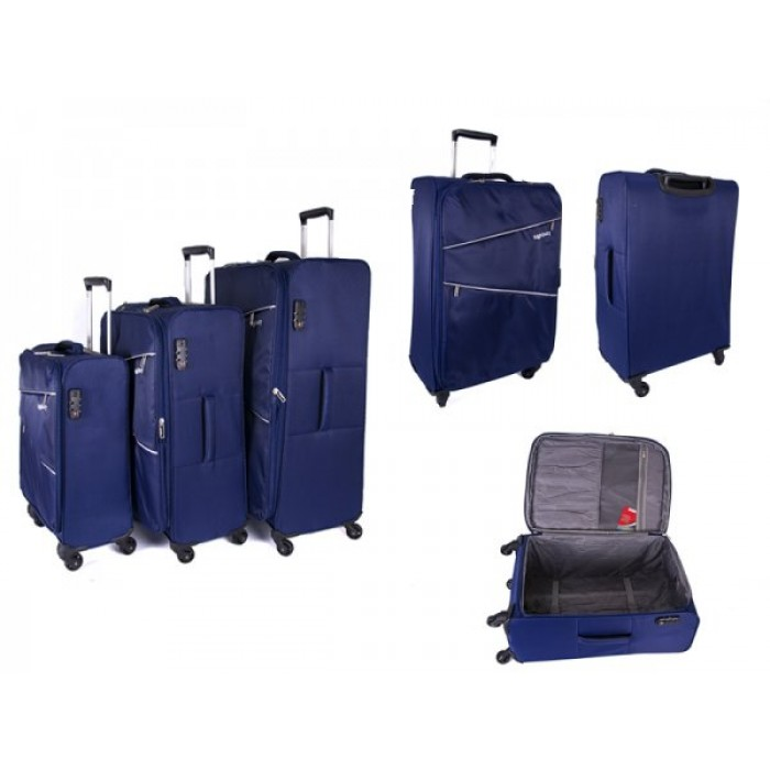 HBY-0084 NAVY SET OF 3, 4 360 DEGREE SWIVEL WHEEL TROLLEYS