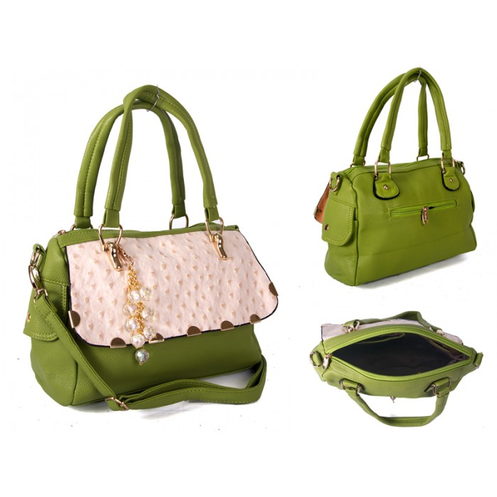 SUS1 GREEN BUBBLE FLAP PU BAG