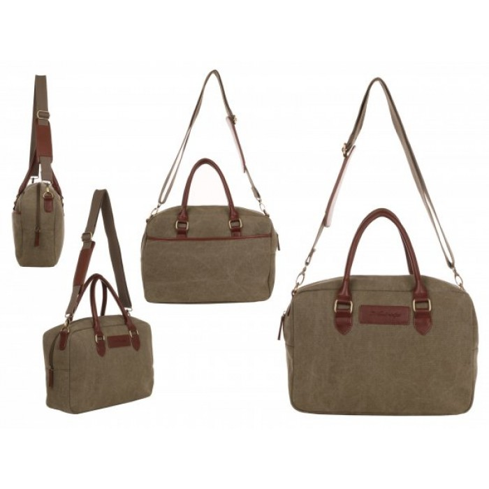 WB-6023 KHAKI SMALL CANVAS HOLDALL