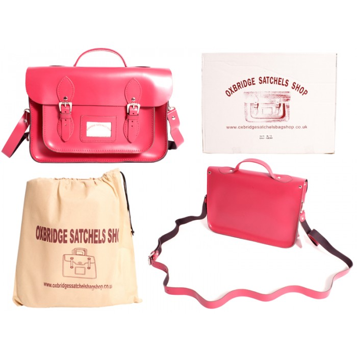 "IN-NEW 13"" FUSCHIA SATCHEL WITH HANDLE"