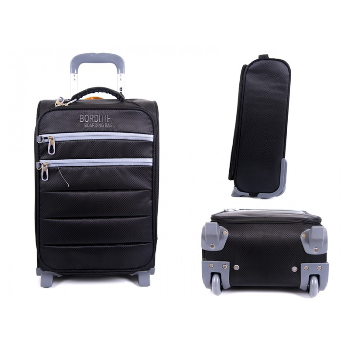 JB2001 BLACK/GRAY CABIN SIZED 2 WHEEL BAG