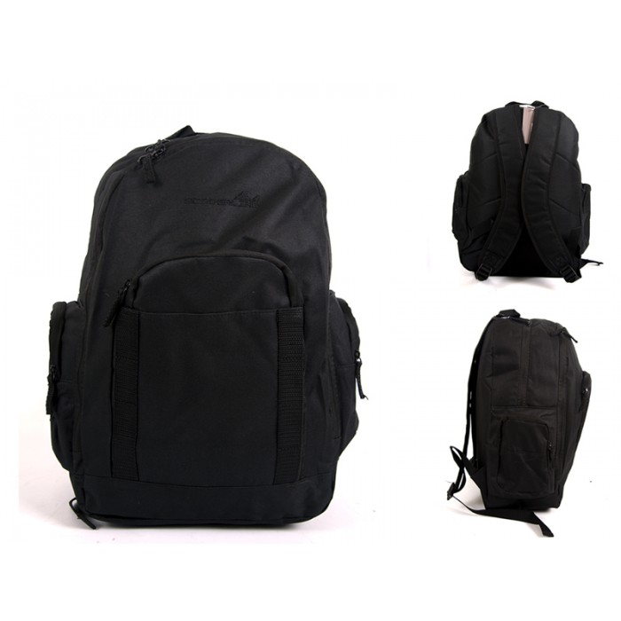 JBBP268 BLACK MULTI ZIP PKT BACKPACK