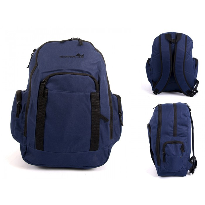 JBBP268 NAVY MULTI ZIP PKT BACKPACK