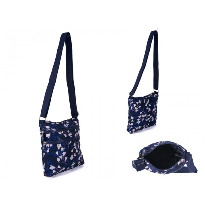 JBNHB07-4-PRINTS-CHERRY BLOSSOM XBODY BAG WITH 3 ZIPS