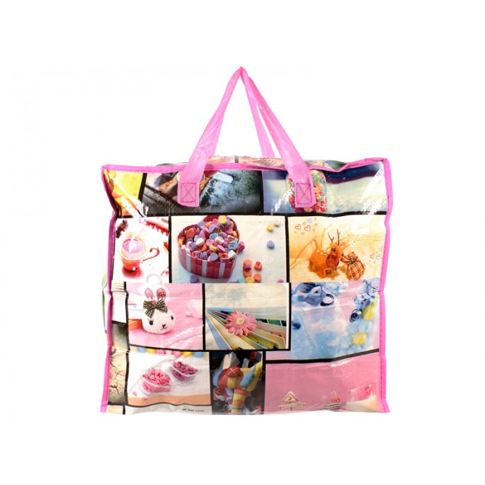 2474 PINK PRINT MEDIUM LAUNDRY BAG