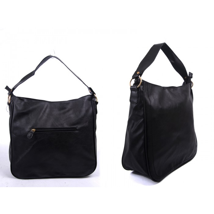 JBFB213 BLACK PU HANDBAG WITH adjust strap shoulder strap