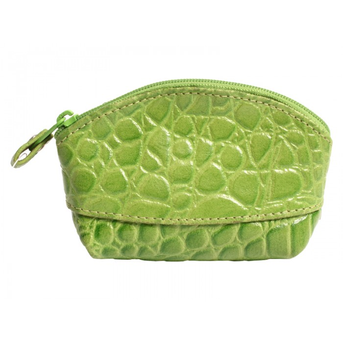 LEATHER COIN PURSE GREEN 0.50