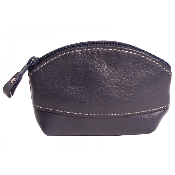 LEATHER COIN PURSE NAVY 0.50
